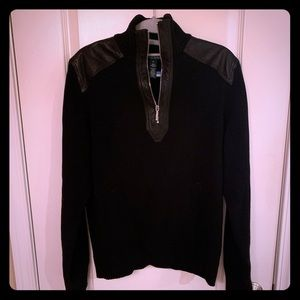 Ralph Lauren sweater with leather shoulders